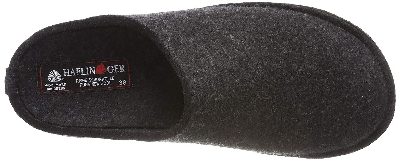Haflinger Unisex Wool Felt Slippers Flair Soft Charcoal