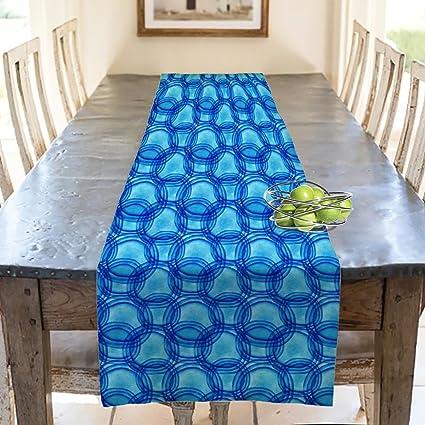 "Plain Dark Blue Fabric Table Runners 12/"" X 71/"""