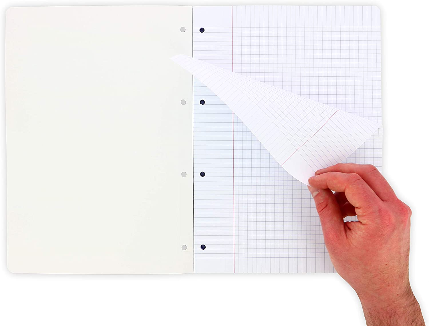 21 x 29.7 cm Oxford Pack of 300 A4 Sheets Protective Cover Detachable and Perforated Small Squares 5 x 5 mm