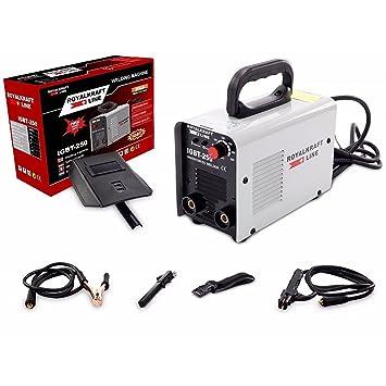TrAdE shop Traesio Soldadura de electrodo Eléctrica Inversor IGBT Soldadura 250 A Cerrajero Cable 2 MT: Amazon.es: Hogar