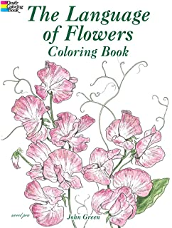 the language of flowers coloring book dover nature coloring book