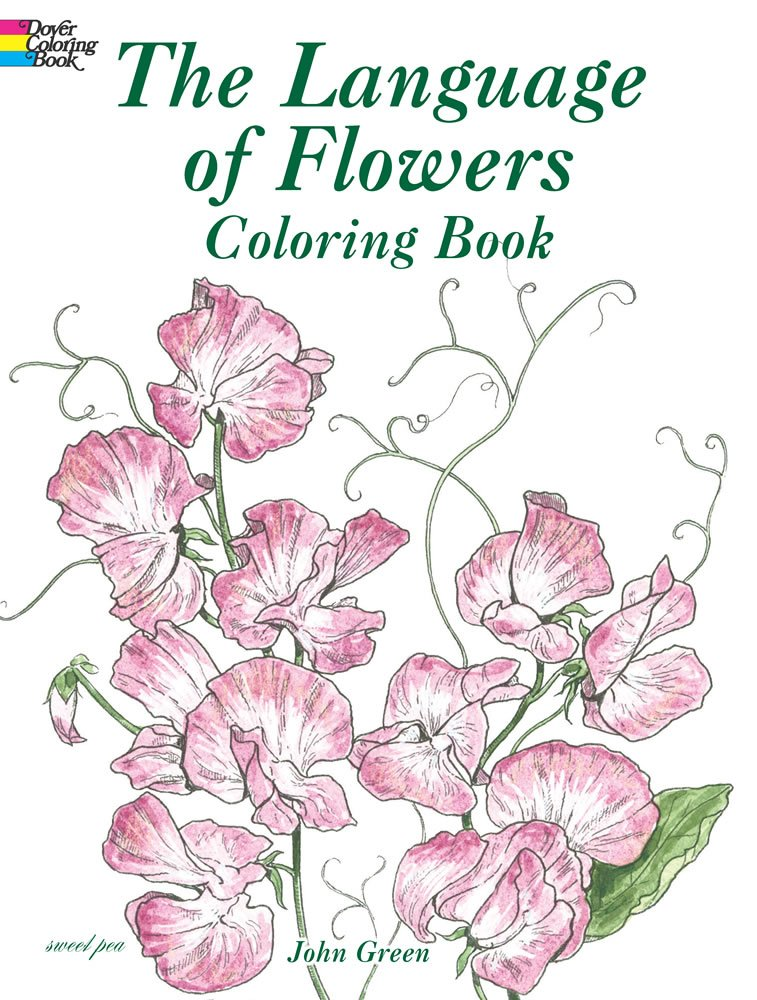 Language Flowers Coloring Dover Nature product image