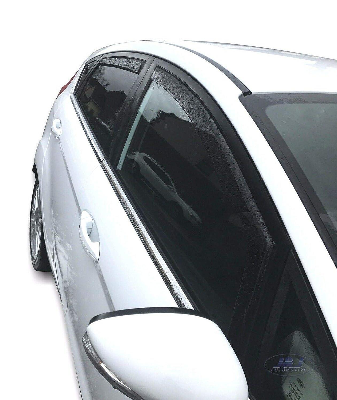 Deflecteurs dair d/éflecteurs de Vent Compatible avec Fiesta 6 5 Portes 2008-2017 4 pi/èces J/&J AUTOMOTIVE