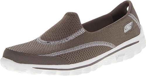 668bc8ef17 Skechers Performance Women's Go Walk 2 Slip-On Walking Shoe, Taupe, ...