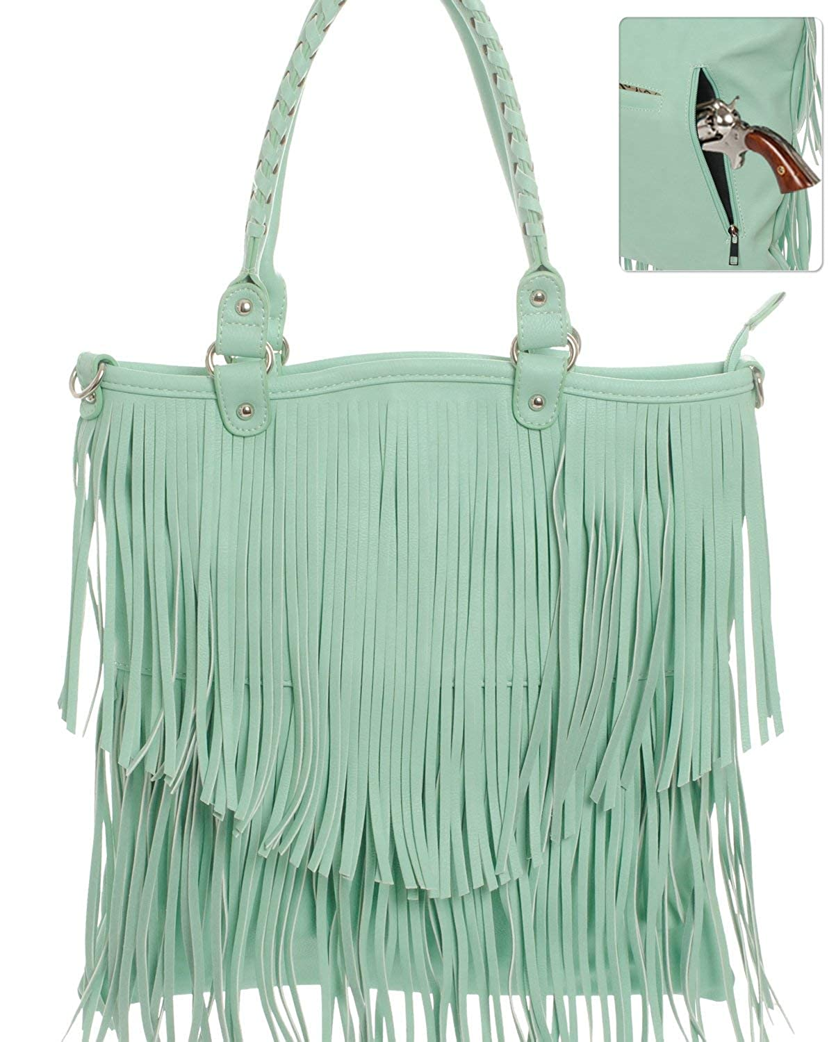 Amazon.com: Arma Concealed Carry Fringe bolso cartera color ...