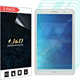 J&D Compatible for 3-Pack MediaPad T3 8.0 inch Screen Protector, [Not Full Coverage] Premium HD Clear Film Shield Screen Protector for Huawei MediaPad T3 8.0 inch Crystal Clear Screen Protector