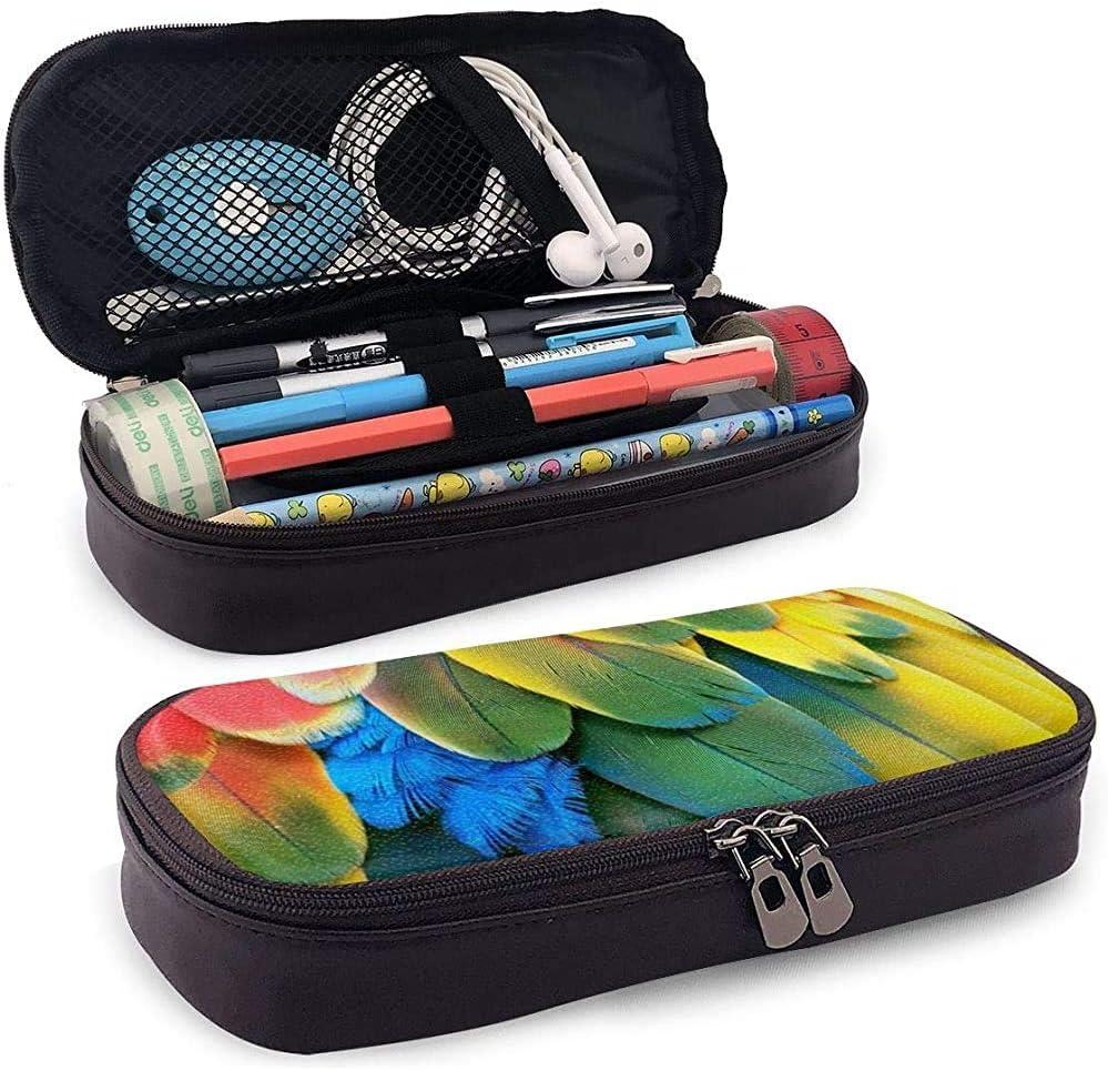 Estuche de lápices de cuero de la PU con cremallera, Estuche de marcador de almacenamiento de capacidad de flores de acuarela Porta bolígrafo, Bolsa de maquillaje