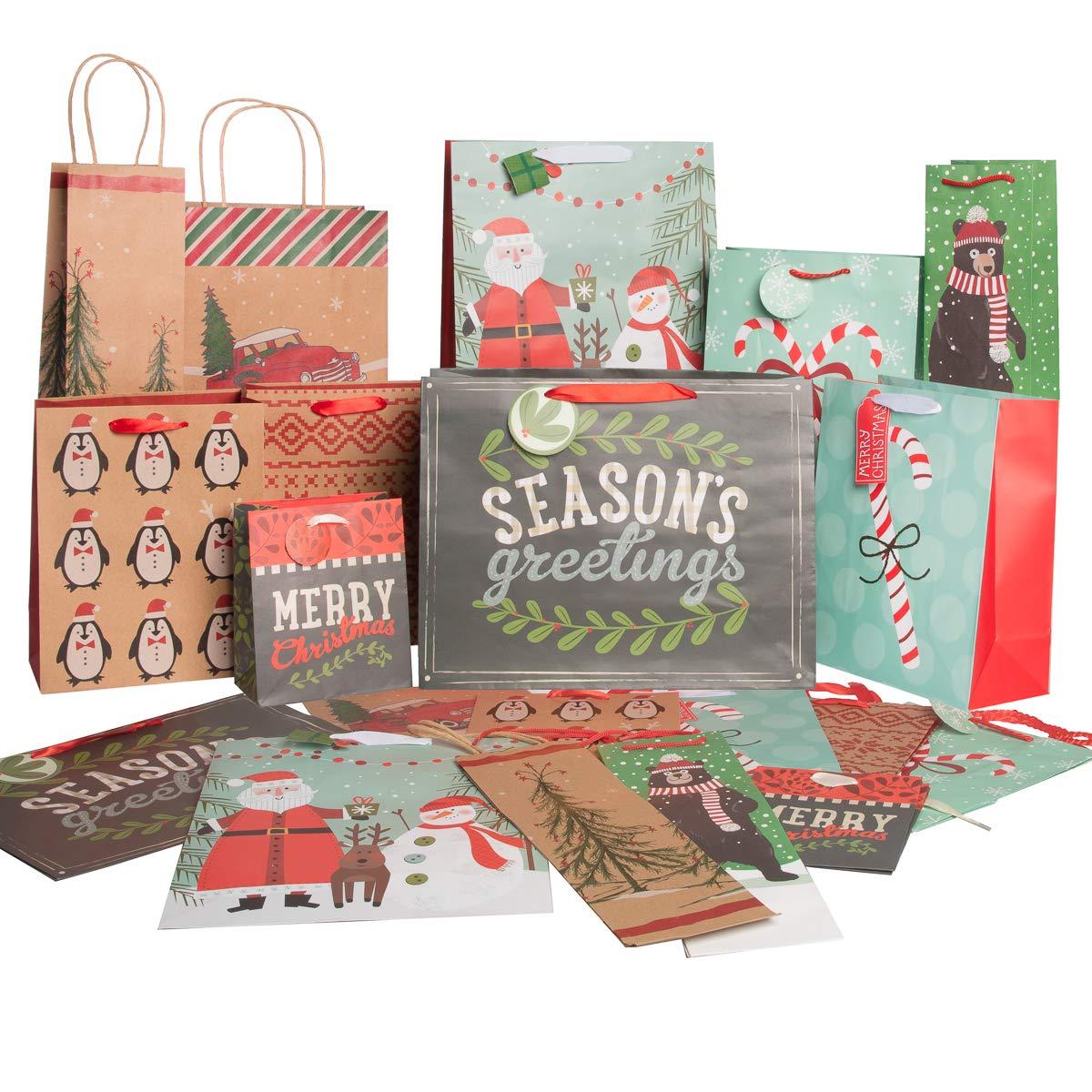 Christmas Gift Bags For Kids.Amazon Com Believe Kids 20 Pack Reusable Christmas Gift