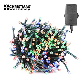 Chaser Christmas Lights.75170 Christmas Workshop Benross 400 Led Chaser String Lights Multi Coloured Multi Function Flashing Fairy Light 8 Modes Indoor Outdoor Garden