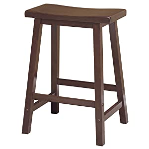 "Winsome 94084 Satori Stool 24"" Walnut"