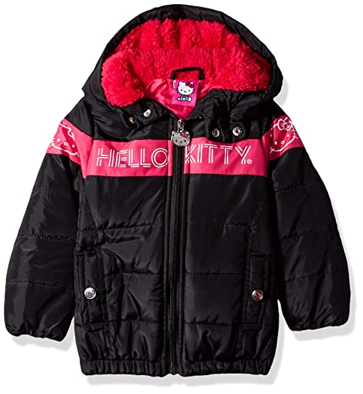 ef58f66ce Amazon.com: Hello Kitty Baby Girls Long Puffer Jacket with Hood: Clothing