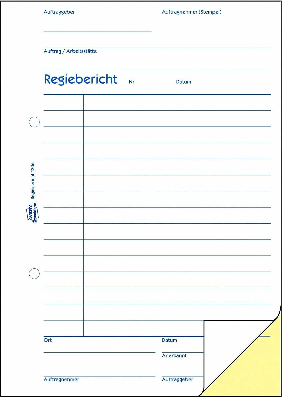bianco//giallo A5, con 2/fogli di carta blu, 2/x 50/fogli Avery Zweckform 1306/regista relazione