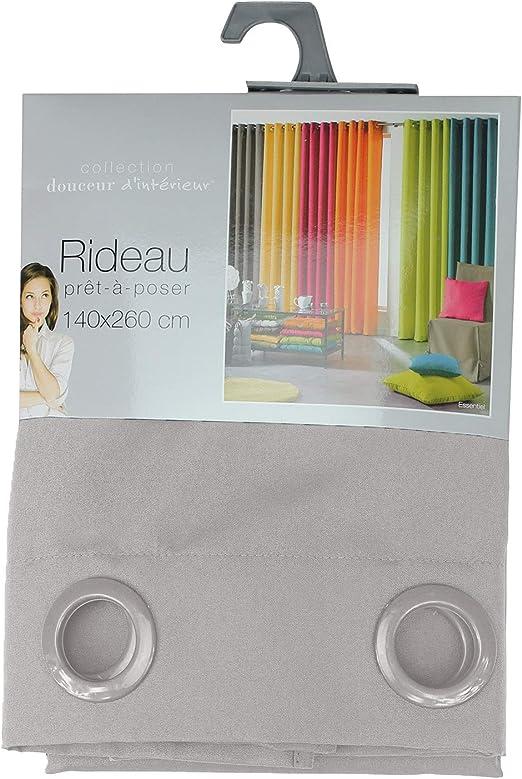 Douceur dInt/érieur Rideau A Oeillets Microfibre Imprimee Madison Polyester Multicolore 140 cm x 240 cm L3C 1606573