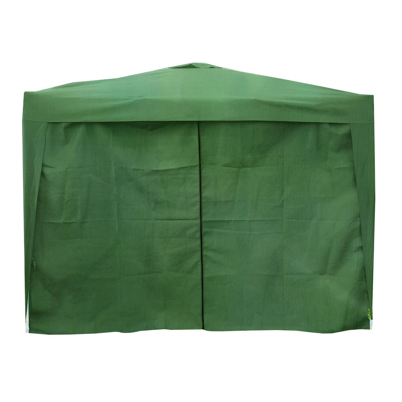 Voche/® Pack of 3 Premium Side Panels for 3m x 3m Garden Gazebo Green with Zip /& Windows