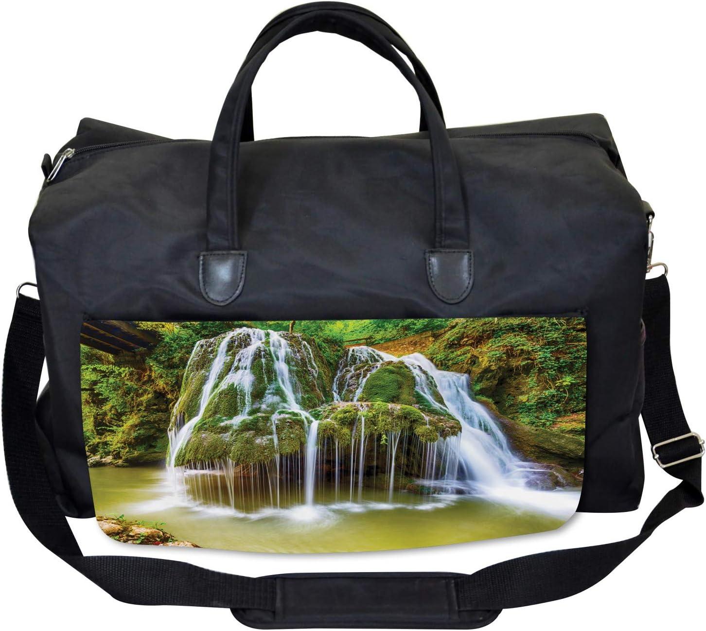 Large Weekender Carry-on Ambesonne Scenery Gym Bag Botanic Plants in Lake