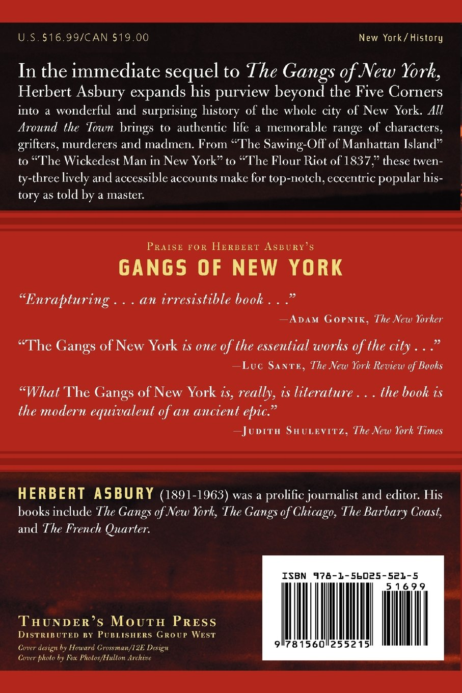 all around the town murder scandal riot and hem in old new all around the town murder scandal riot and hem in old new york adrenaline classics herbert asbury 9781560255215 com books