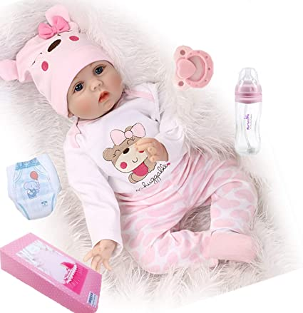 "Reborn Baby Doll Girl 22/"" Reborn Dolls Newborn Babies Silicone Vinyl Dolls"