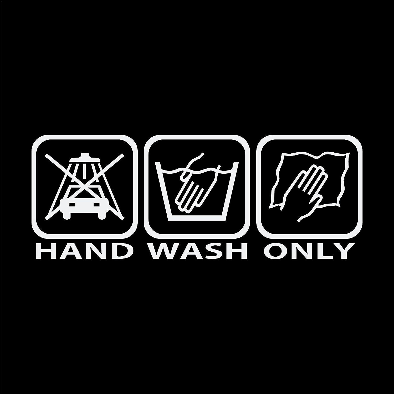 Folistick Hand Wash Only Sticker Hand Wash Care Car Sticker Ha2 White Auto