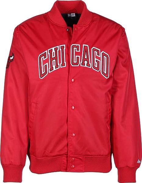 A NEW ERA Era NBA Team Wordmark Chicago Bulls Chaqueta universitaria Front Door Red