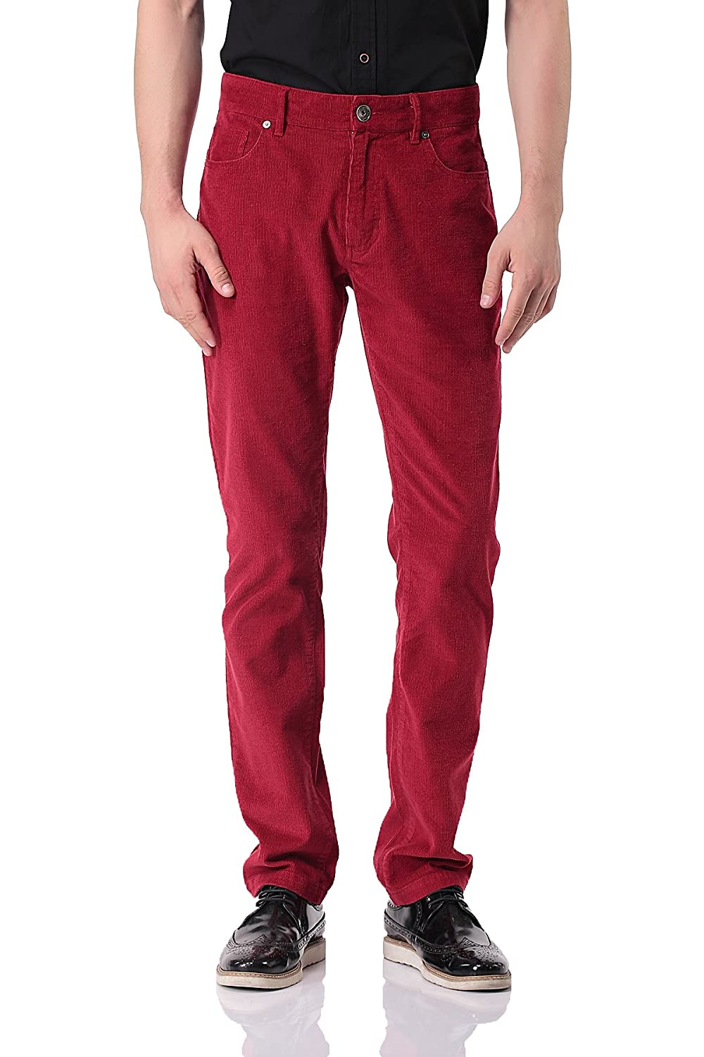 Pau1Hami1ton PH-06 Men's Corduroy Trousers Straight leg Slim Fit Casual Pants PH-06-1