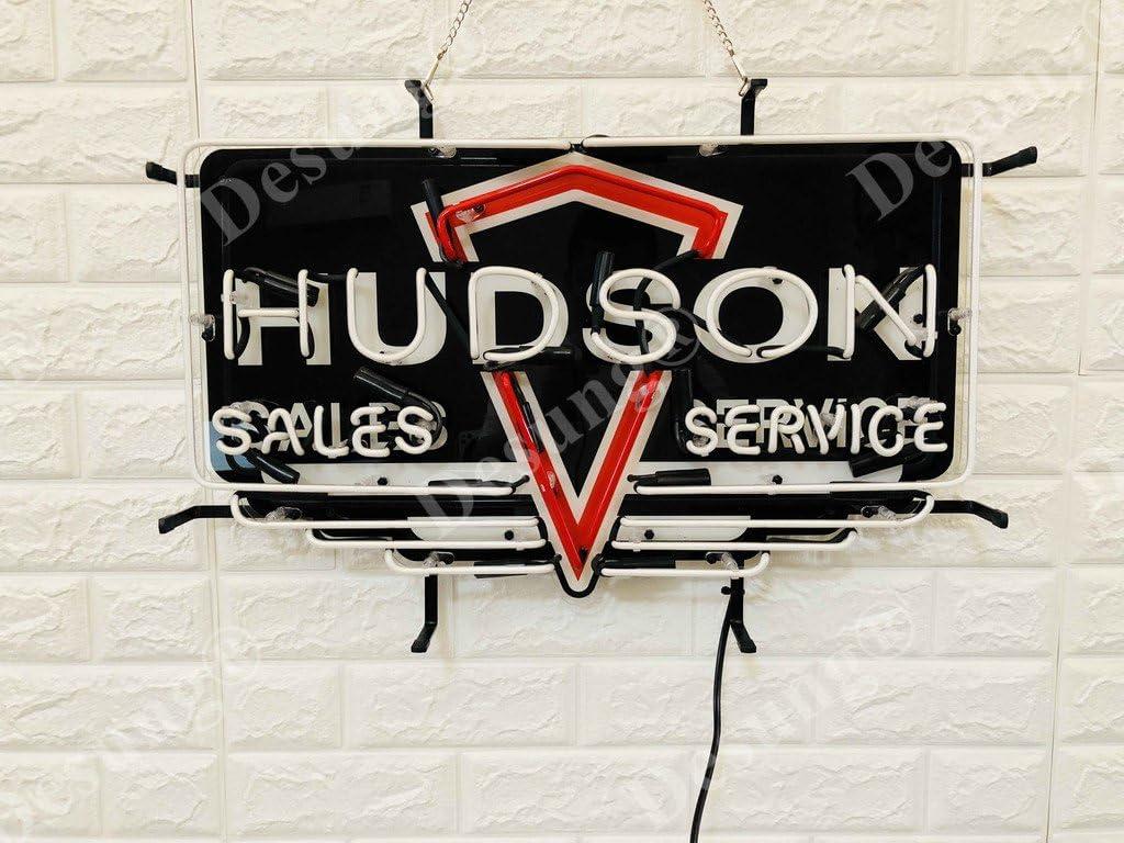 "Hudson Sales Service Beer Light Neon Sign 24/"" HD Vivid Printing Technology"