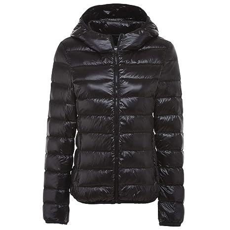98221e43ec7 YOFIT Women's Hooded Down Down Jacket - Duck Down Filling - Featherweight &  Warm Windproof Winter