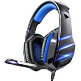 Gaming headset for PS4 Xbox one PS5 controller, Beexcellent Newest Deep Bass Stereo Sound Over Ear Headphone with Noise Isola