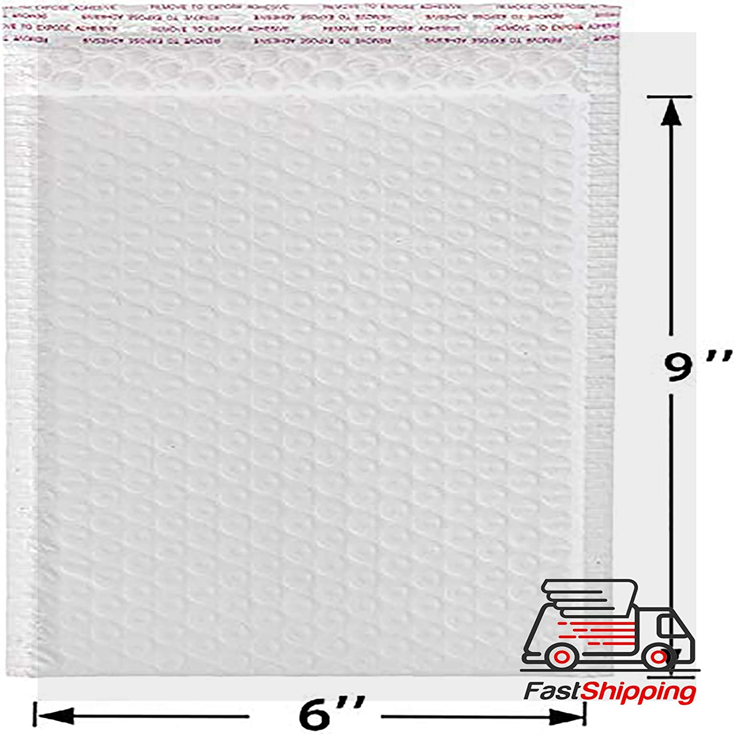 Paof 50 Small Bubble Mailing Envelopes 6x10 Inches Matte White Self Seal Shipping Padded Envelopes Poly Bubble Mailers
