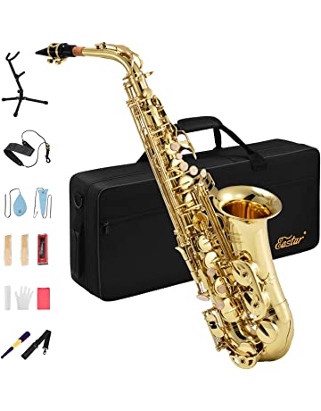 Eastar AS-Ⅱ Student Alto Saxophone E Flat Gold Lacquer Saxophone Full Kit With Carrying