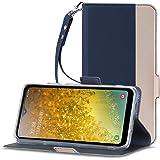 Galaxy A20 SCV46 ケース 手帳型 TopACE Galaxy A20 SCV46 ケース 軽量 超薄型 超耐磨 カードホルダー&ストラップ付き スタンド機能 Galaxy A20 SCV46 ケース (ブルー)
