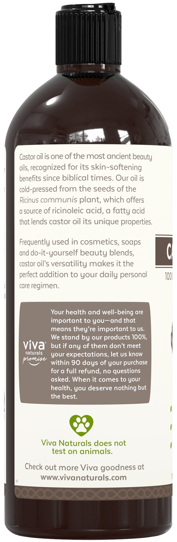 Viva Naturals Certified Organic Castor Oil (16 oz) – 100% Pure and Hexane Free + BONUS Mascara Kit Included, Perfect for Hair Care, Eyelashes and Brows by Viva Naturals (Image #4)
