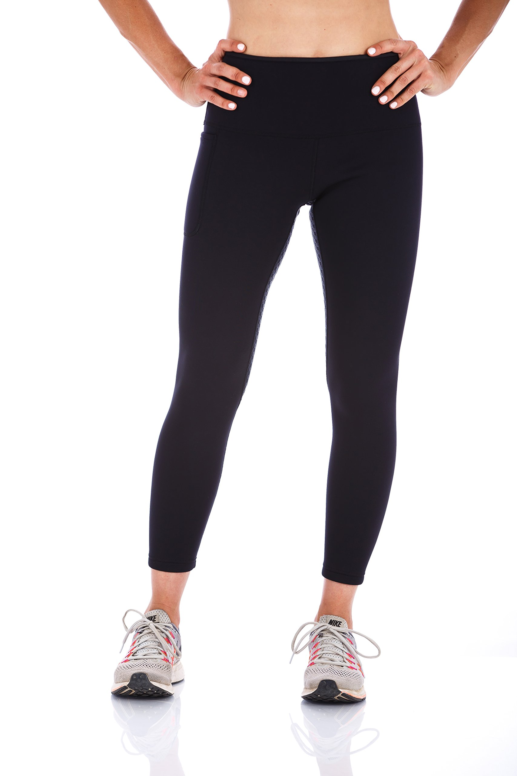 Kutting Weight Sauna Suit Weight Loss Neoprene Women's Compression Tights (Black Tights, S)