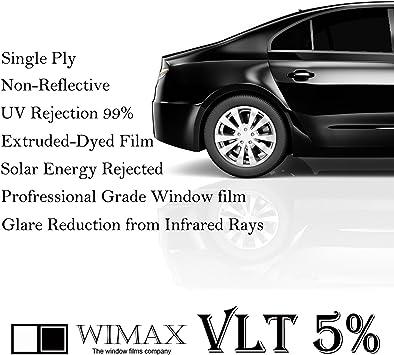 Car Home Office Glasss Uncut Roll Window Tint Film 5/% VLT 40 In x 100 Ft Feet 40 X 1200 Inch