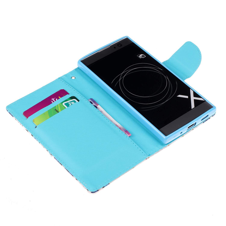 Felfy Kompatibel mit Xperia XA2 H/ülle,Kompatibel mit Xperia XA2 Handyh/ülle Leder Schutzh/ülle Magnetic Flip Case Gemalt Katze Muster PU Lederh/ülle Klapph/ülle Tasche mit Stand Function
