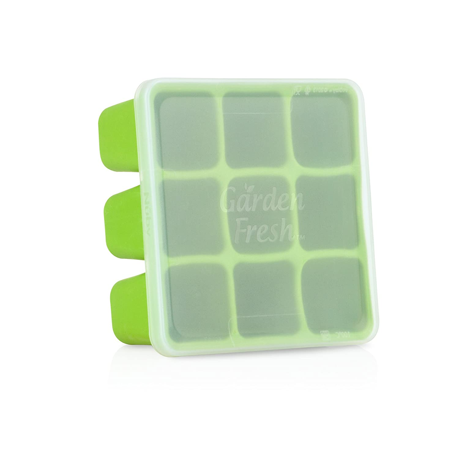 Nuby 534345GR Garden Fresh Freezer Tray, Green