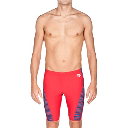 arena Mens Mimetic Jammer Swimsuit, Red, ...
