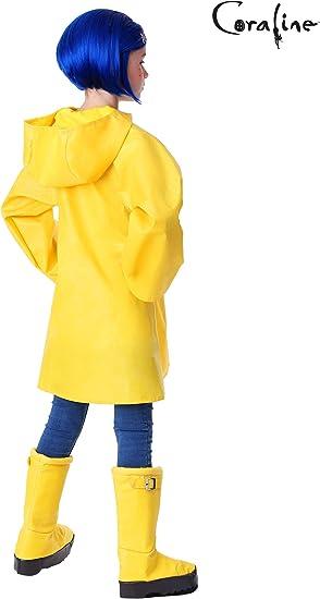 Amazon Com Coraline Costume For Kids Girls Coraline Storybook Yellow Rain Jacket Clothing