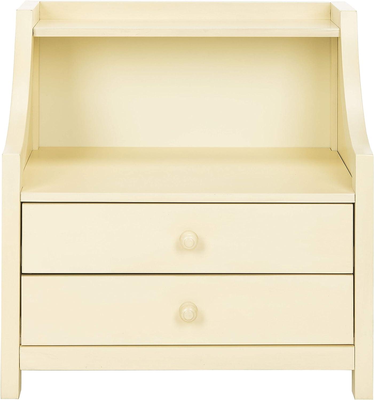 Amazon Com Safavieh Home Collection Ellie 2 Drawer Nightstand White Furniture Decor