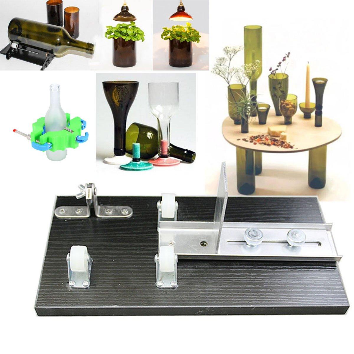ounona Guillotina la botella de cristal herramienta de la máquina de corte para riutilizzazione riciclano Fai Da Te: Amazon.es: Bricolaje y herramientas