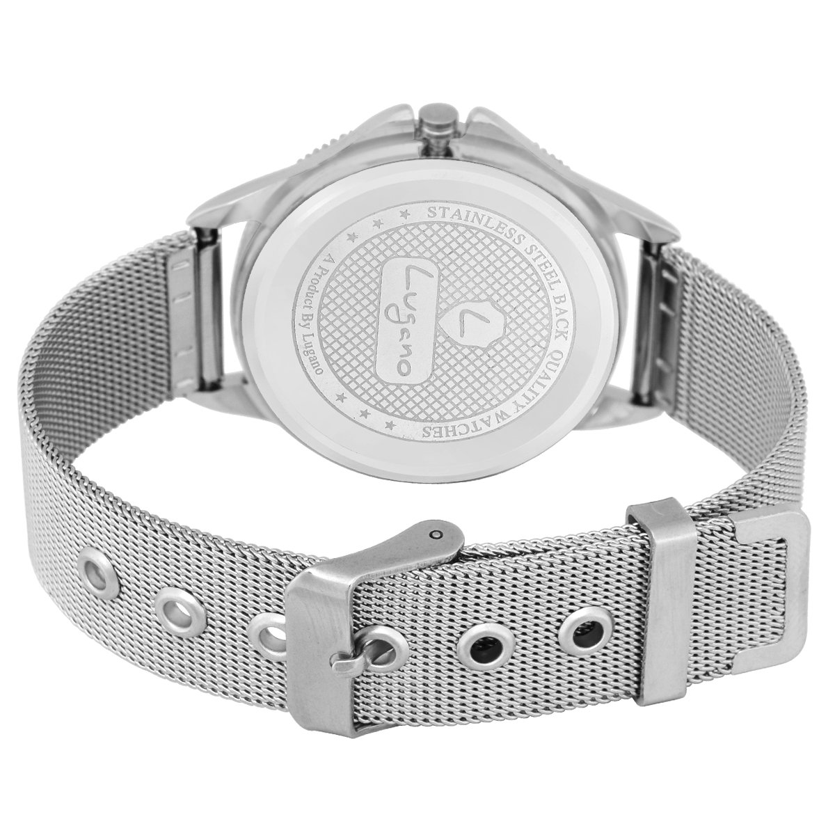 ef3cd31911f Buy Lugano White Dial Heart Printed Analog Watch-for Women.Girls Online at  Low Prices in India - Amazon.in