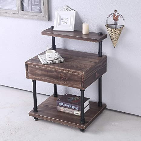 Tall Narrow End Table With Drawers