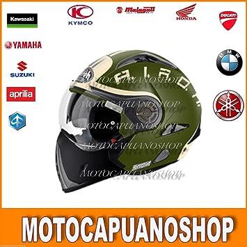 Airoh Casco Helmet Modular desmontable Jet Talla M J106 Smoke verde mate