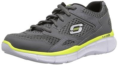 Skechers Equalizer, Jungen Sneakers, Grau (CCYL), 27 EU