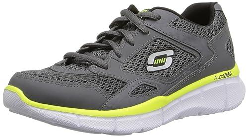 Sneakers grigie con stringhe per bambini Skechers Advantage Entrega Rápida De Descuento Precio Salida De Baja Aclaramiento Wiki sXPjNH