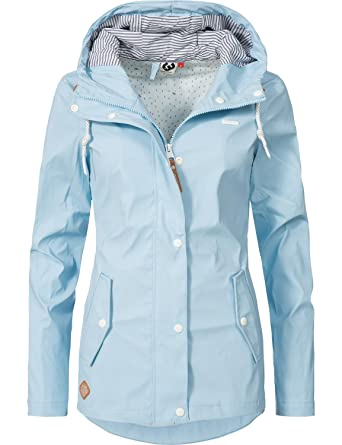Ragwear Damen Übergangs-Jacke Outdoorjacke Regenmantel YM-Marge Light Blue  Gr. XL 8e0b82ca1e