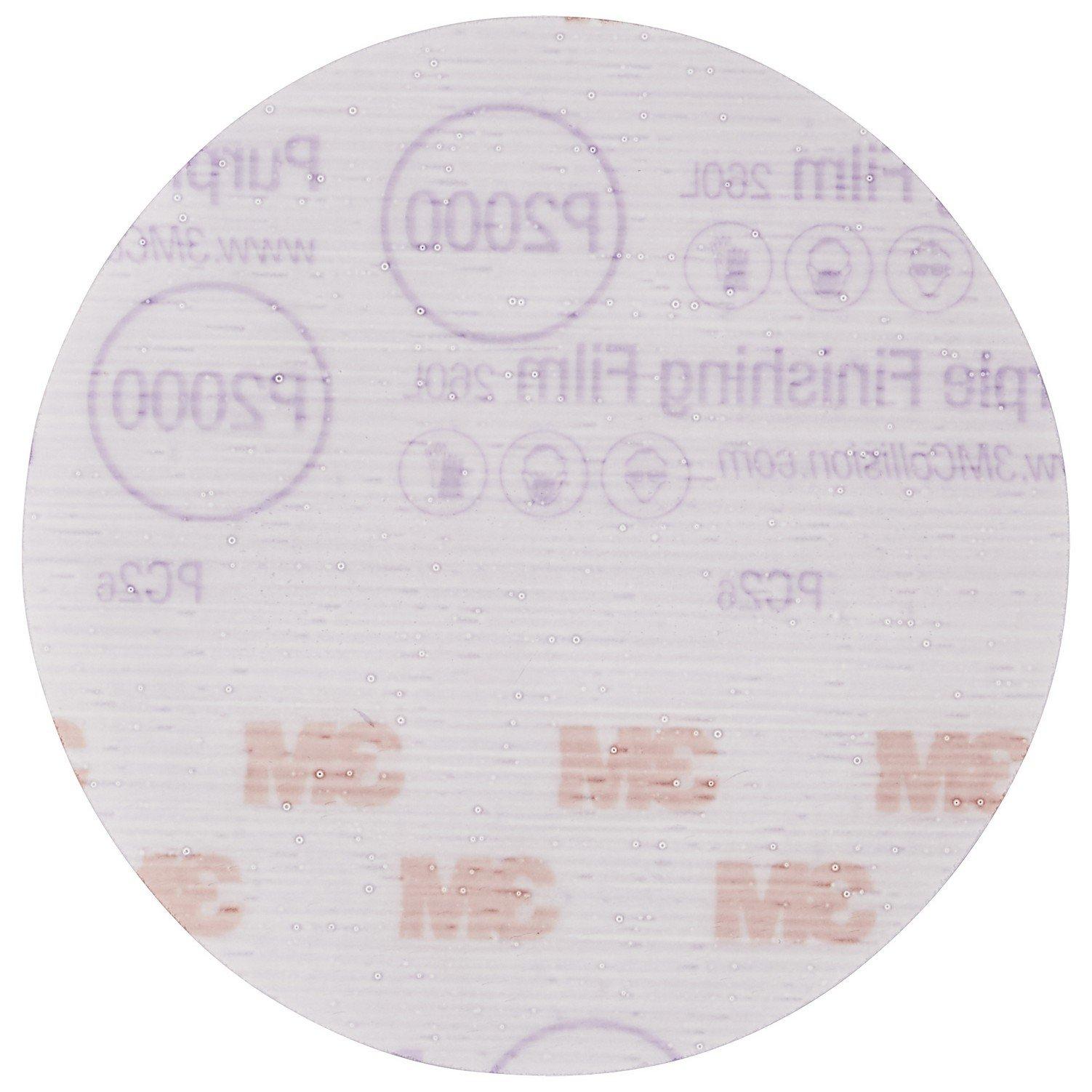 3M 30566-50PK Hookit 5'' Purple Finishing Film Disc, (Pack of 50) by 3M (Image #3)