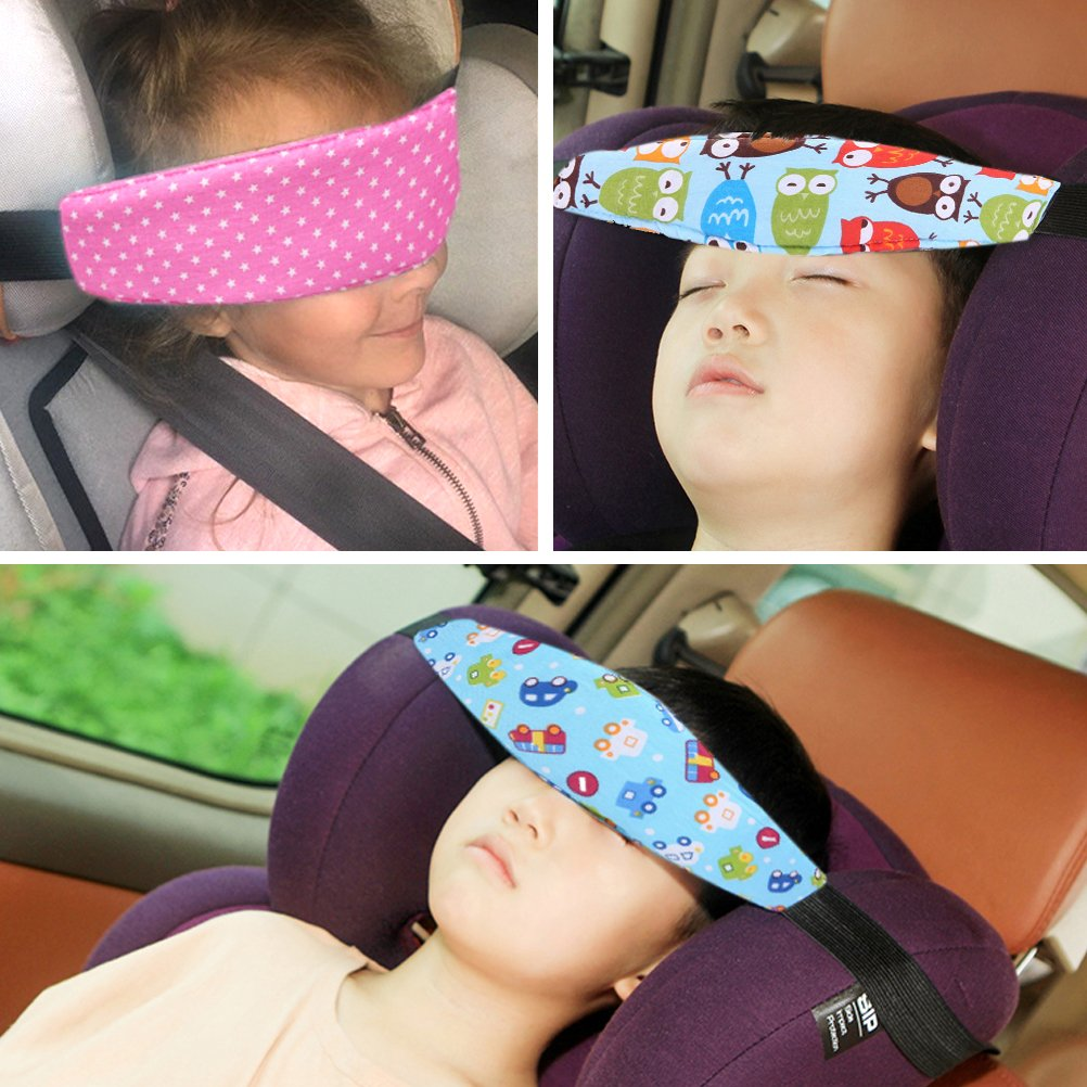4 Pcs Toddler Car Seat Infants And Baby Head Support Neck Relief
