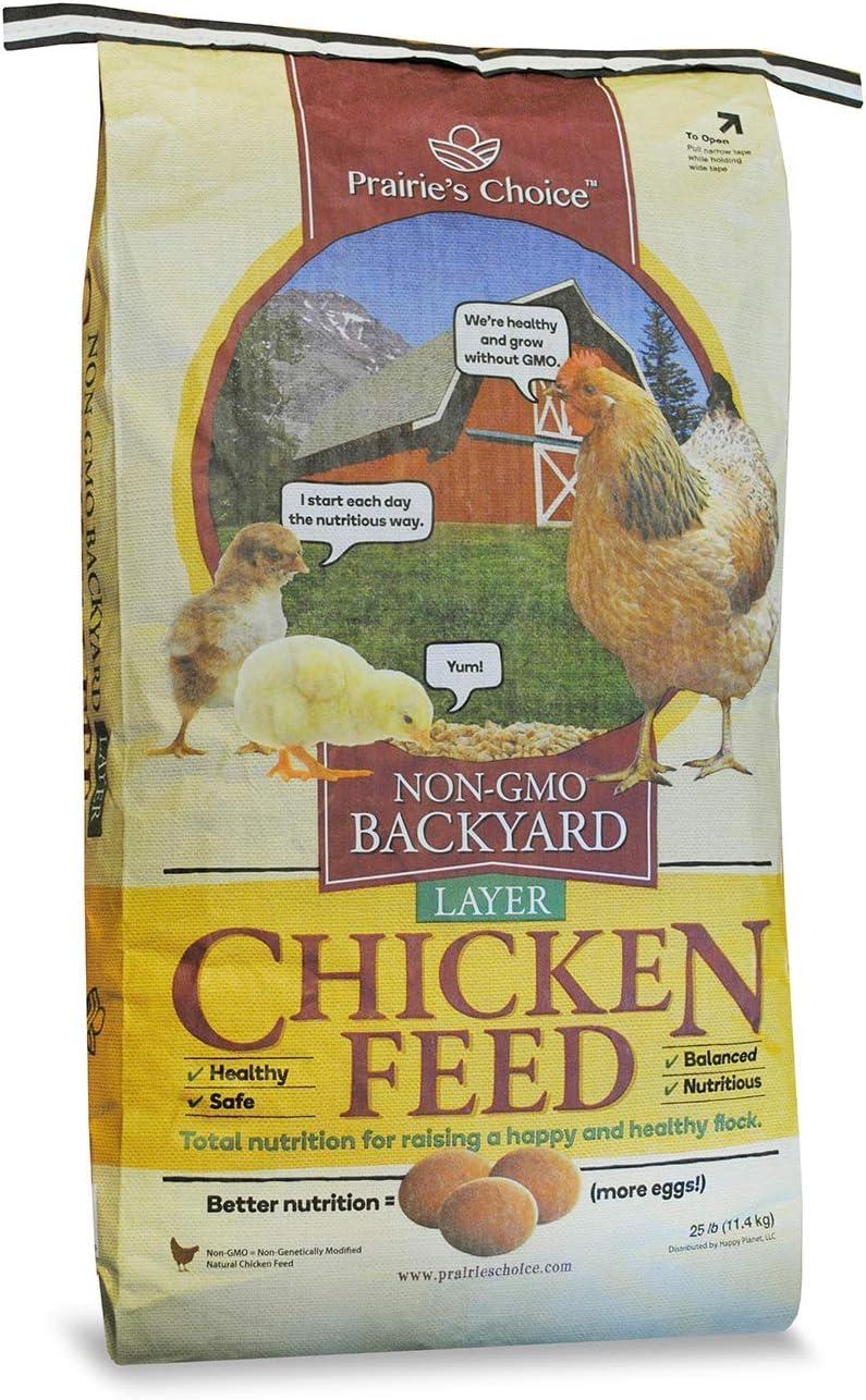 Prairie's Choice Non-GMO Backyard Chicken Feed - Layer Formula, 25lbs