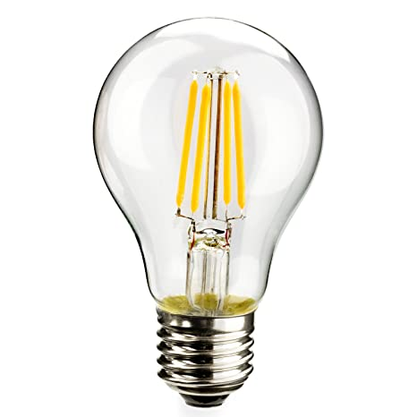 Leadleds LED Filament Bulb A19, Vinatge Edison Style LED Bulb 4W E27 Soft  White 2700k
