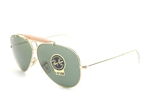 2d7019d843 Ray Ban Shooter RB3138 001 Arista G-15 XLT 58mm Sunglasses  Amazon.co.uk   Clothing